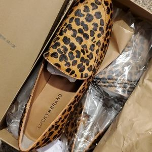 New with box Lucky leopard flats